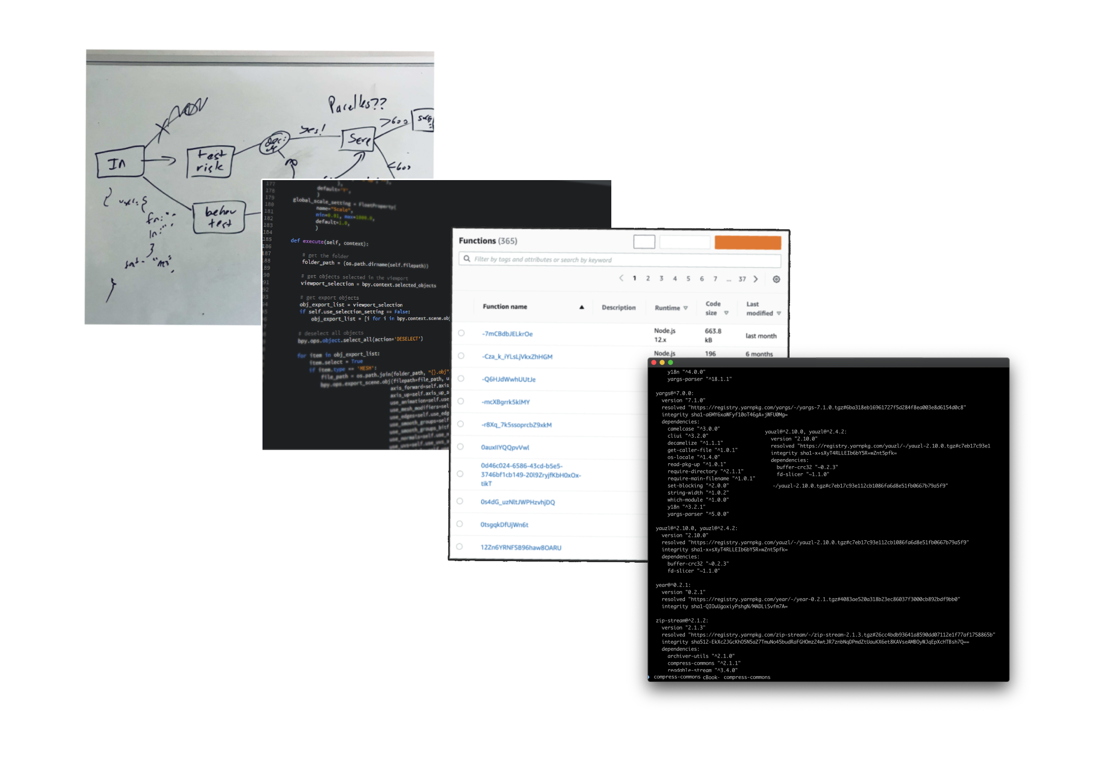 Architecture, whiteboards, log streams, AWS serverless, lambda and more - forget about using all of them!