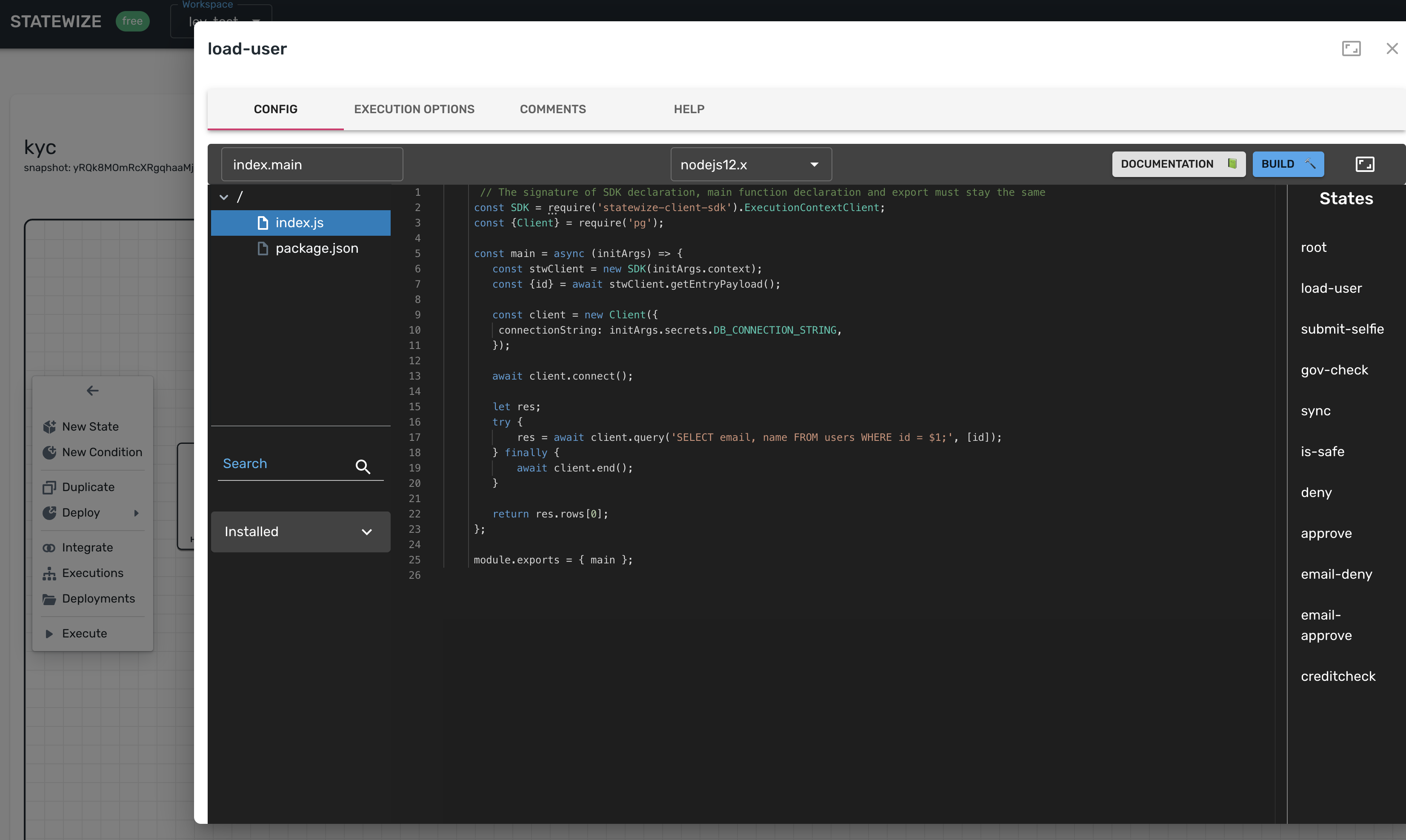 code editor in the browser