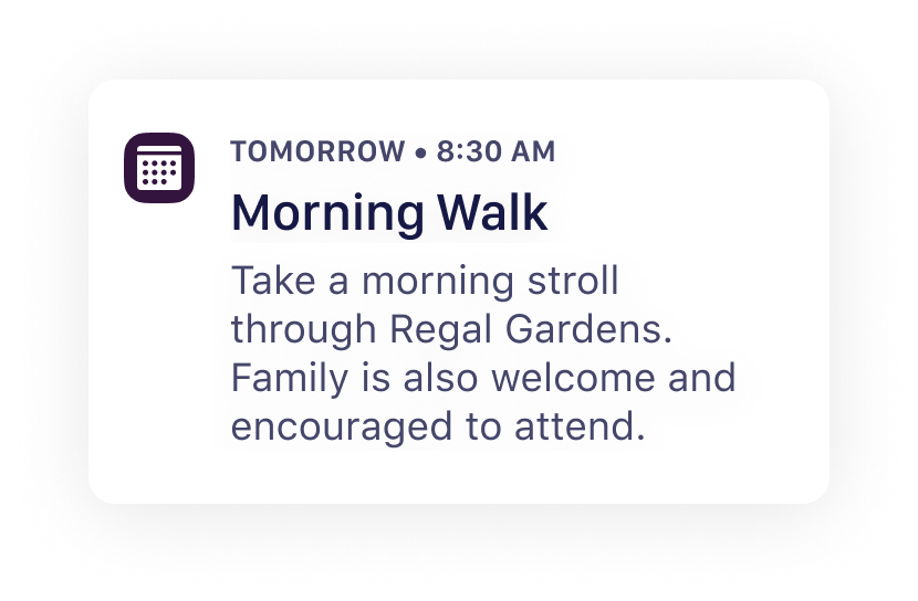 Quiltt - Upcoming Activity - Morning Walk