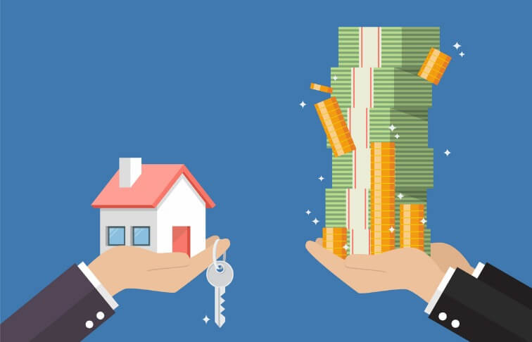 Trading cash for an investment property
