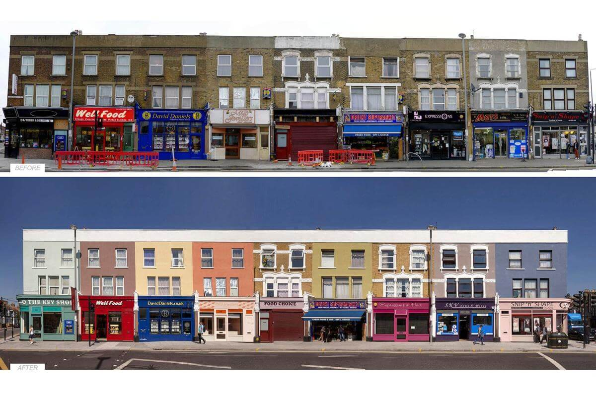 Comparison of properties before and after gentrification