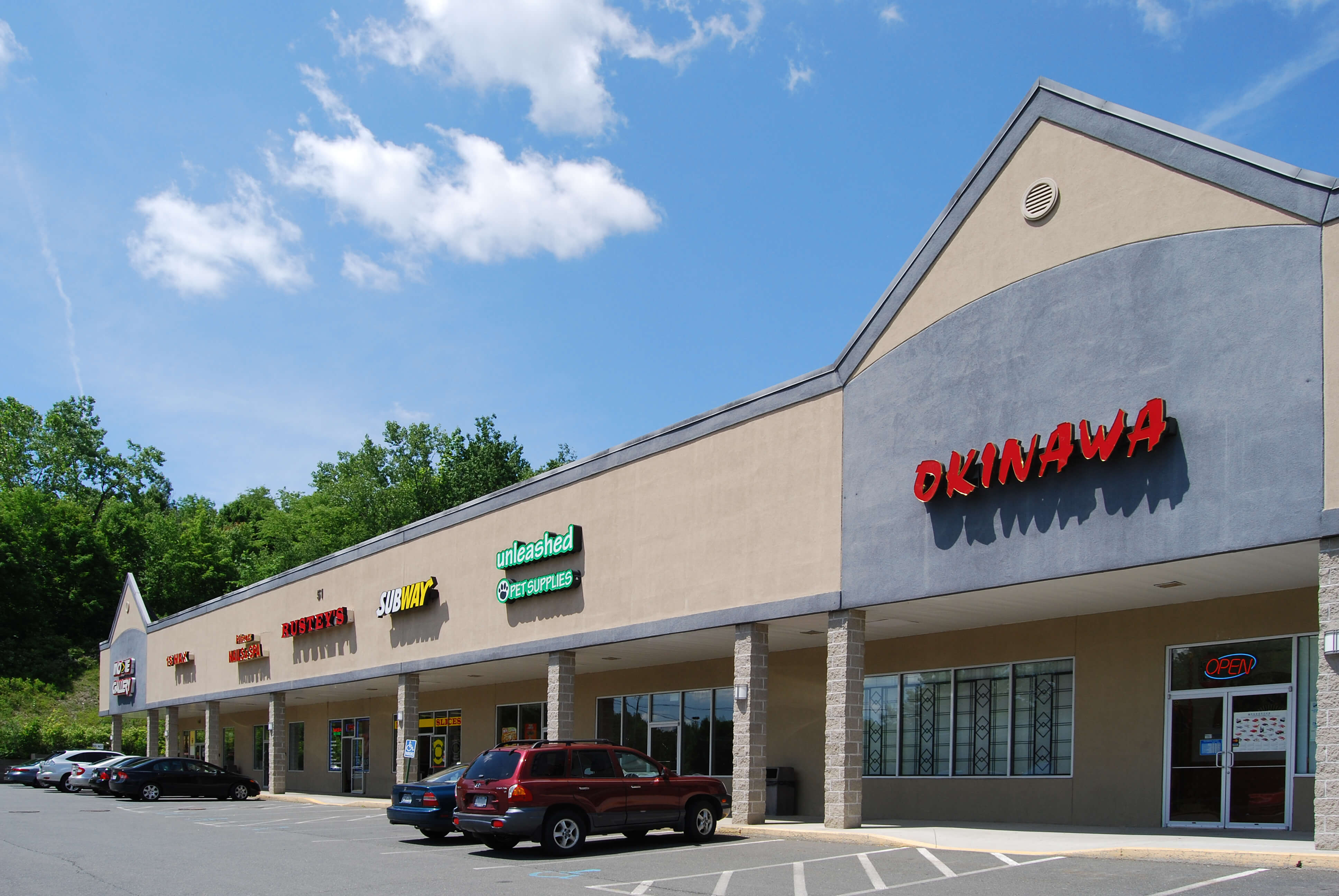 Class B retail property strip mall