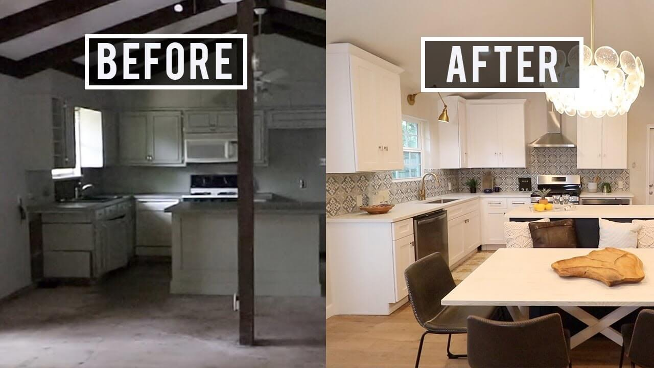 Before and after pictures of a house flip
