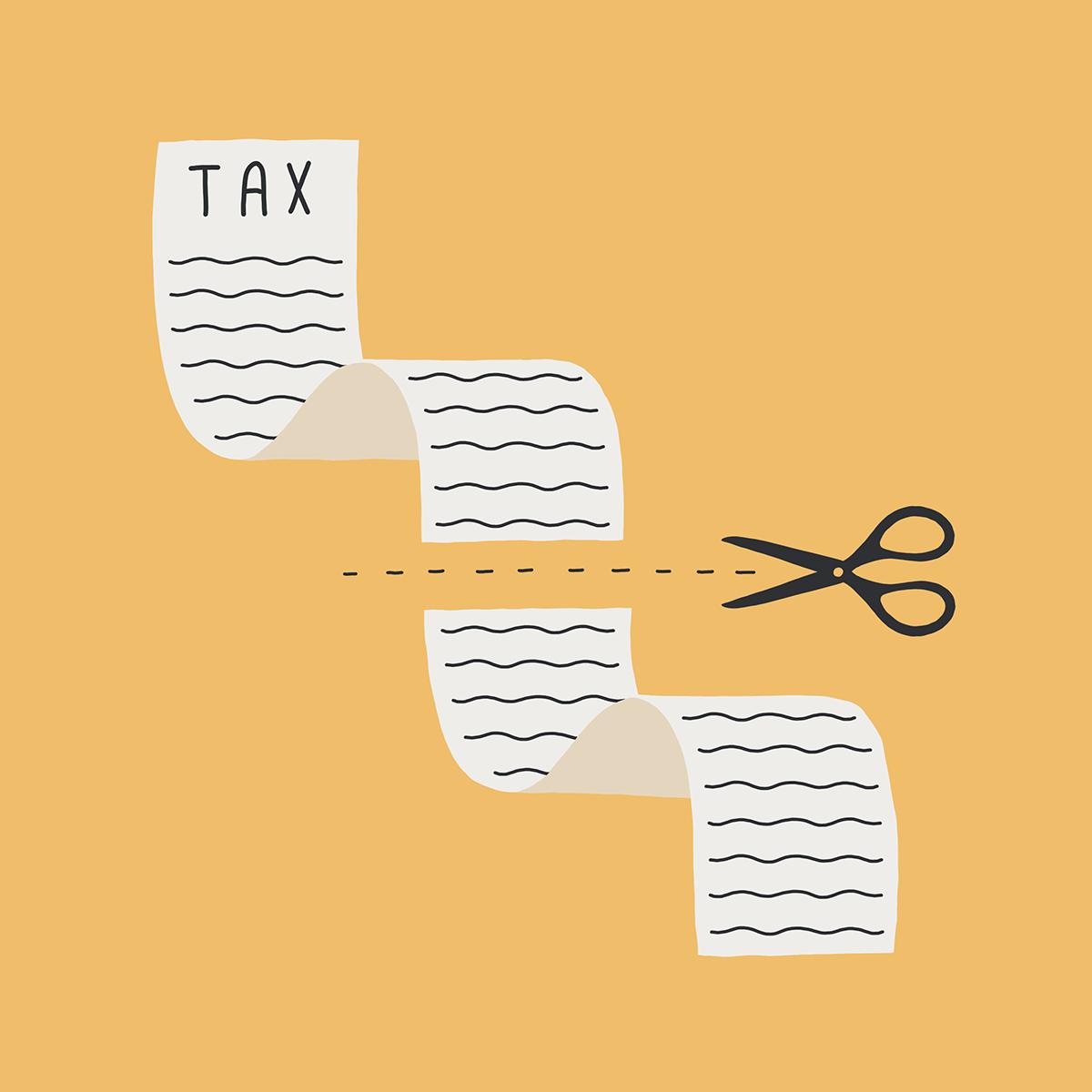 Tax list cut in half