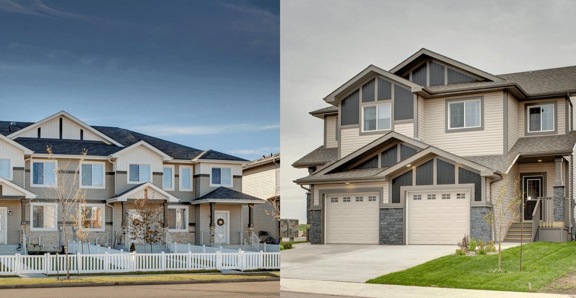 Townhouse (left) vs. Duplex (right)