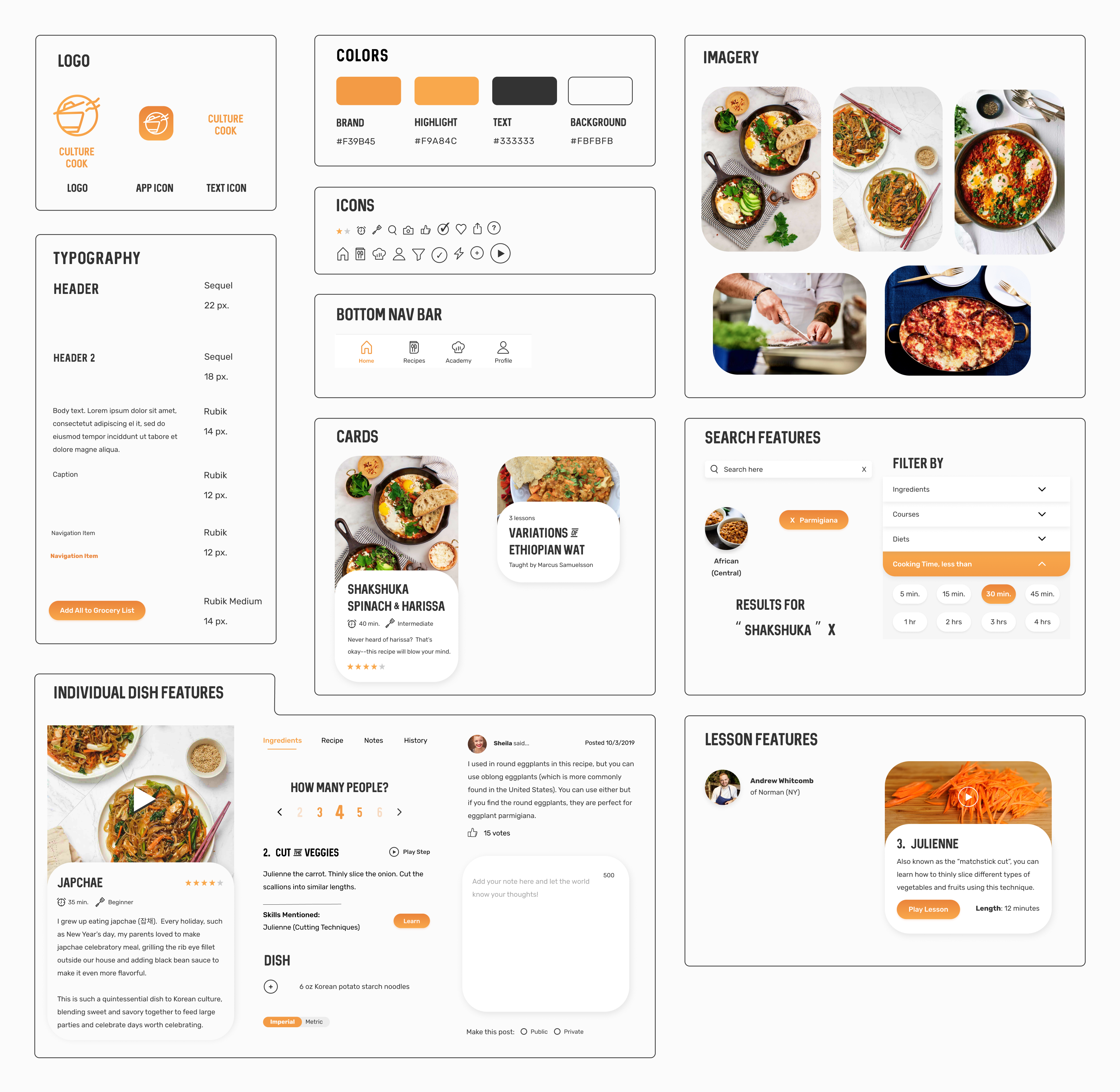 UI Kit for Culture Cook