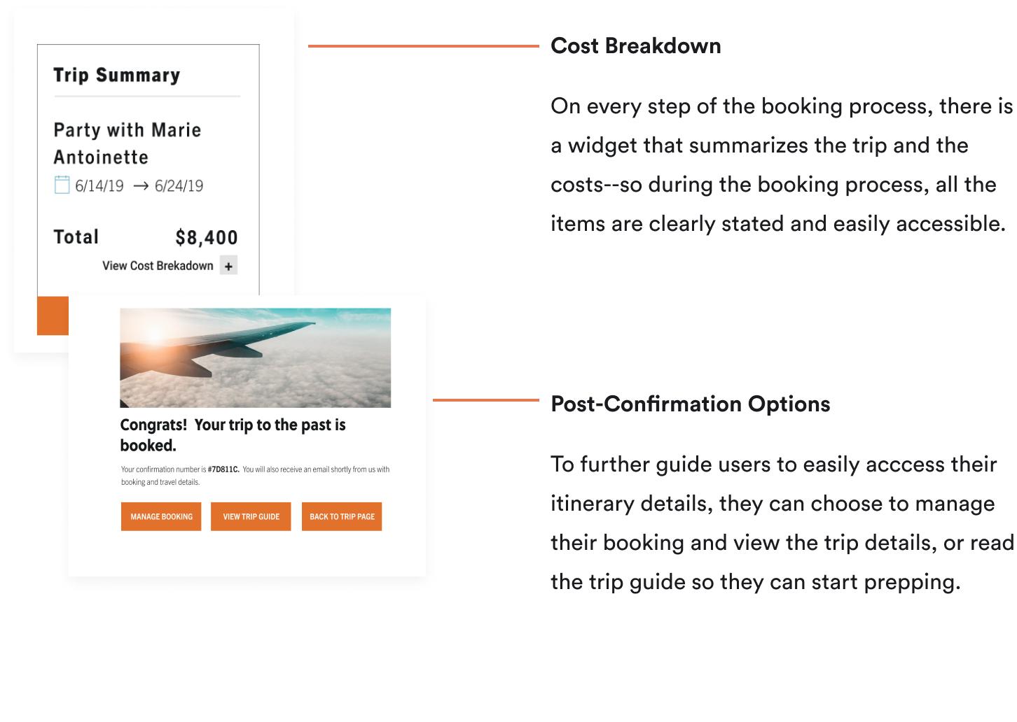 Picture of Zeit's Features for Transparent Trip Details