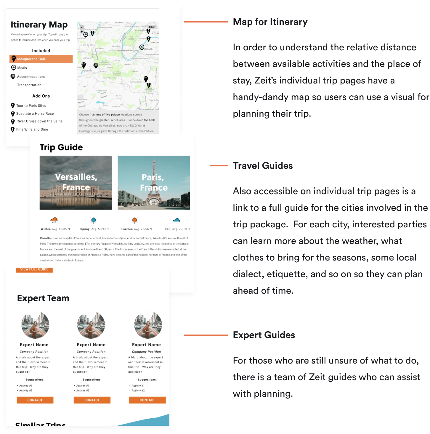 Picture of Zeit's Pages for Easier Trip Planning
