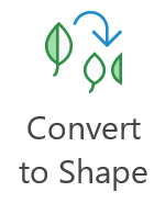 The 'convert to shape' toolbar button
