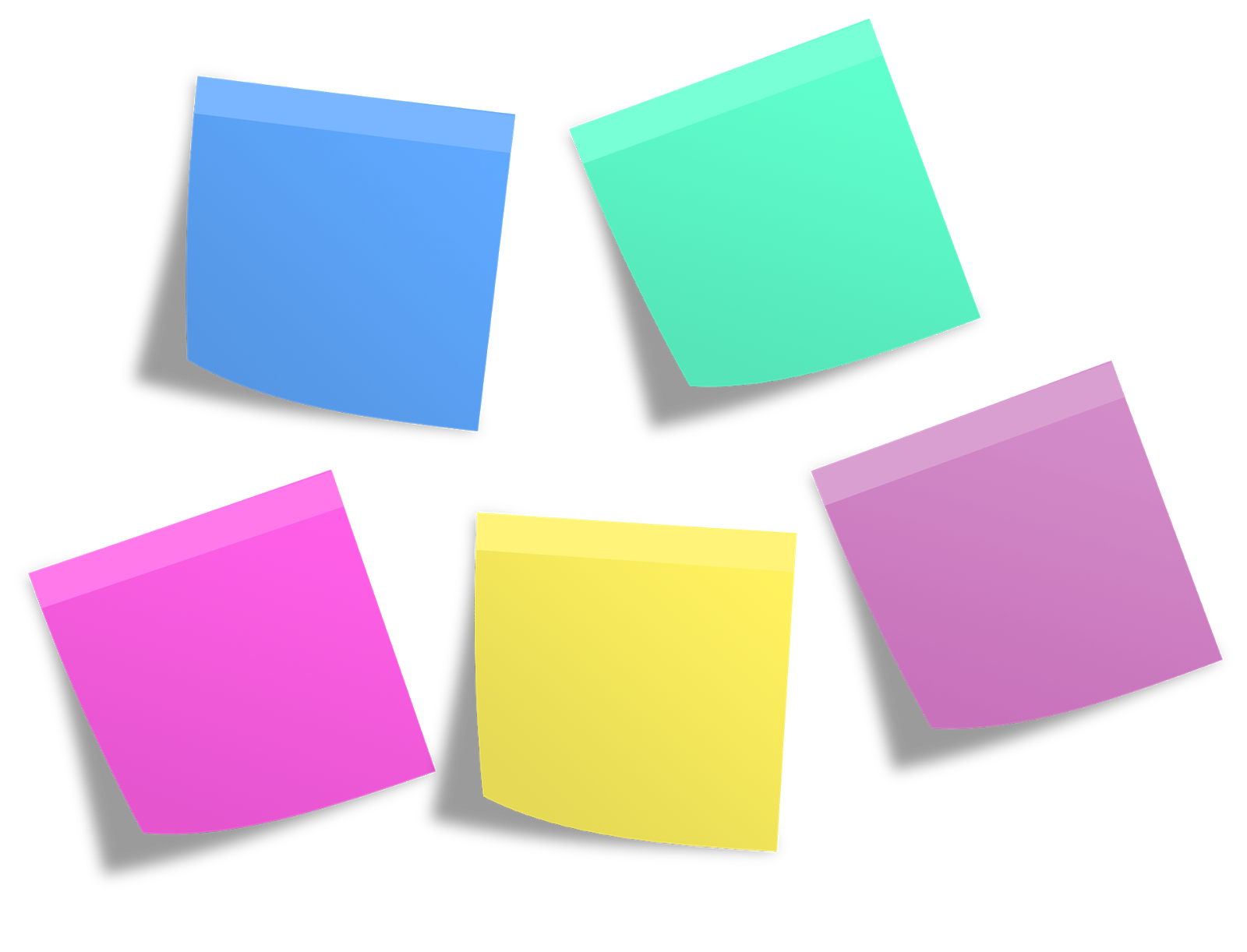 An example of slightly more photo-realistic Post-its from an image website