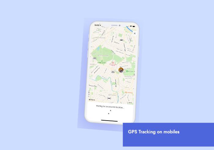 a view of the GPS step tracker feature available on the mobile apps