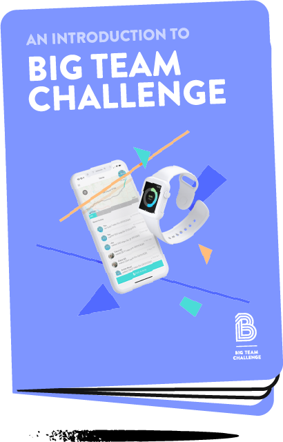 PDF booklet explaining what Big Team Challenge is and how it can be used for your own company Step Challenge