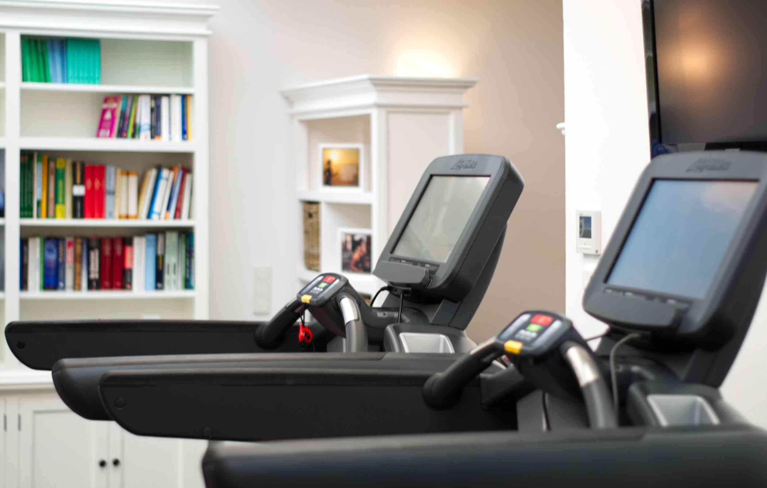 Treadmills in the fitness room
