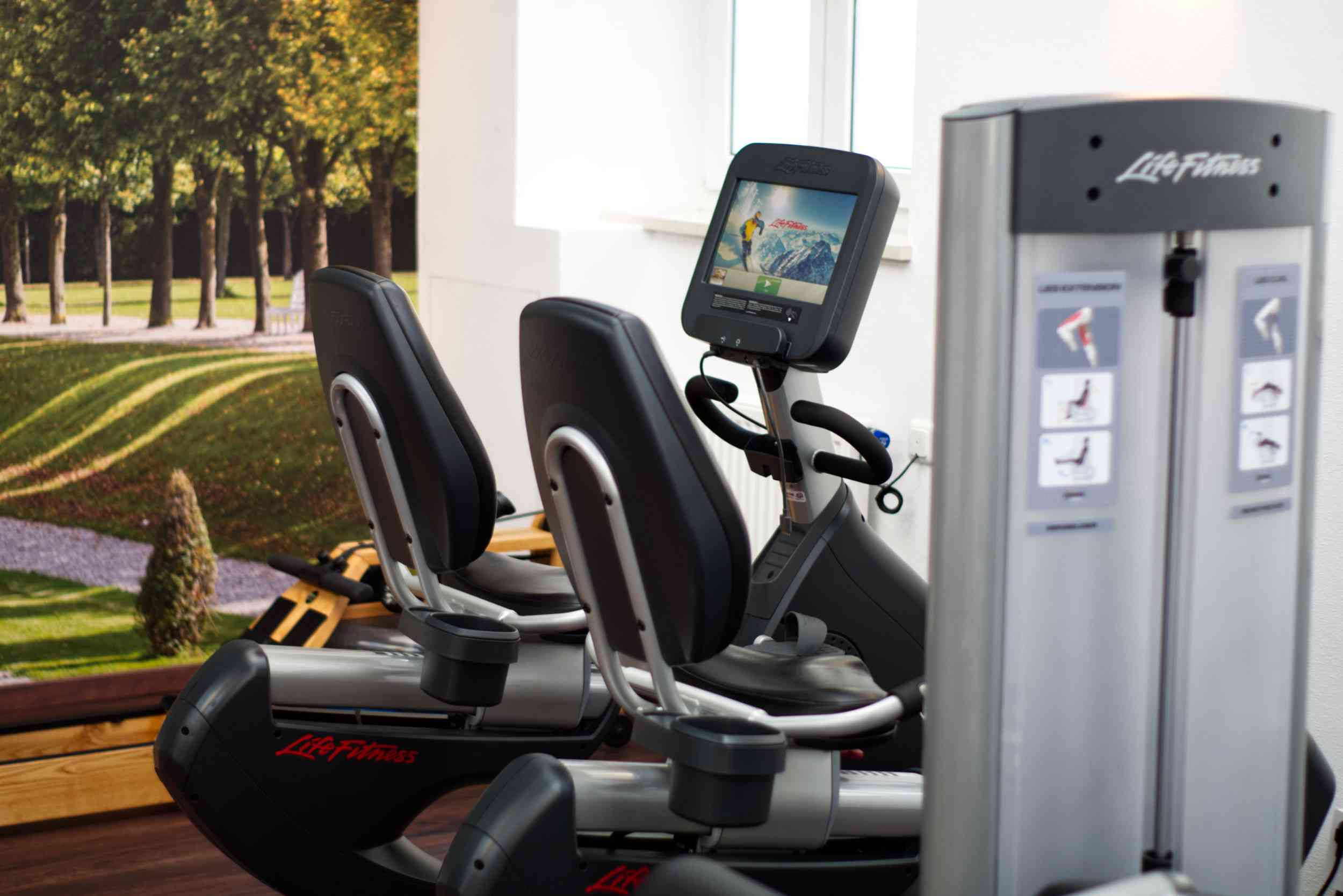 Bicycles in the fitness room