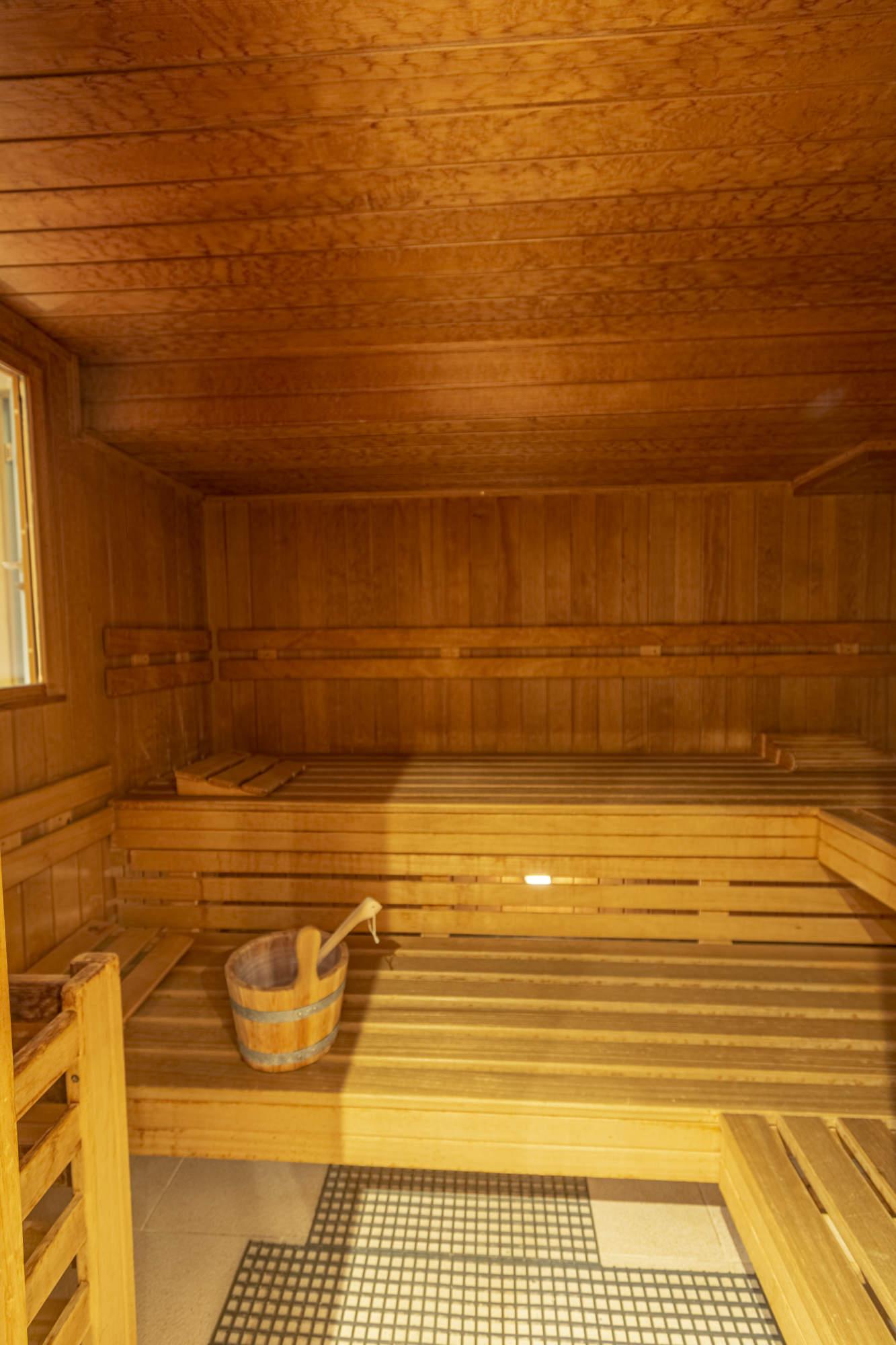 Finnische Sauna Innenaufnahme