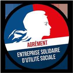 Macaron agrément ESUS Entreprise Solidaire d'Utilité Sociale