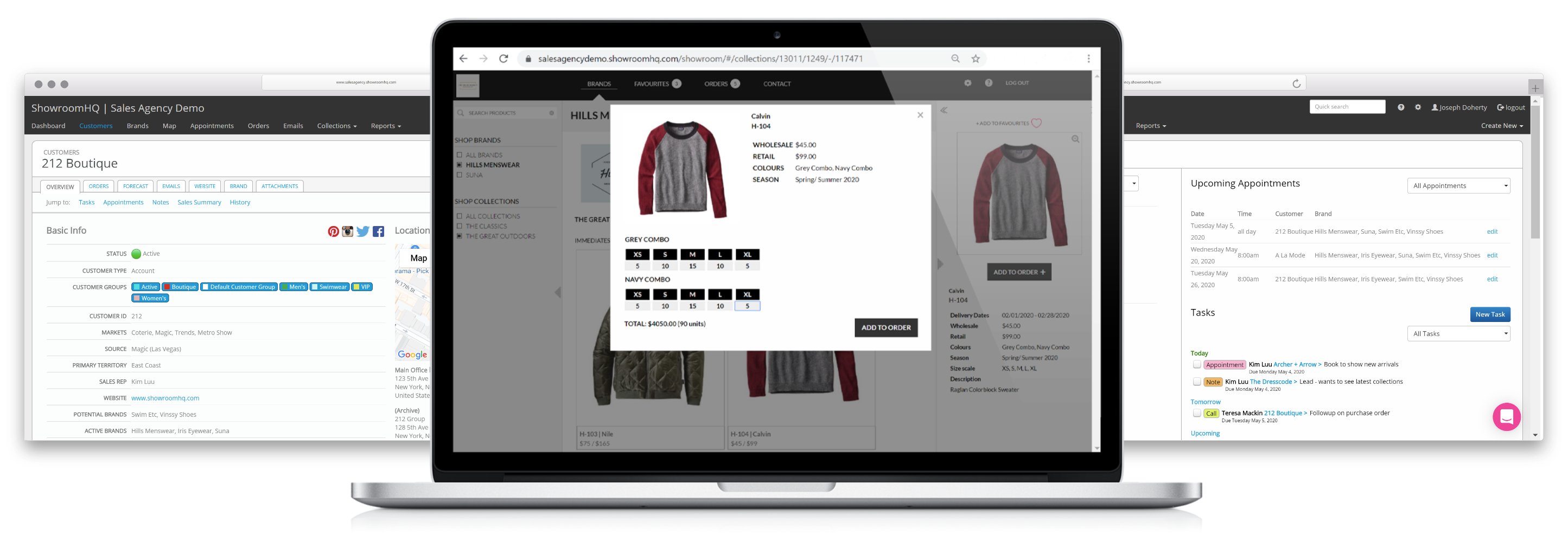 CRM Clothing Industry - Wholesale Apparel Software