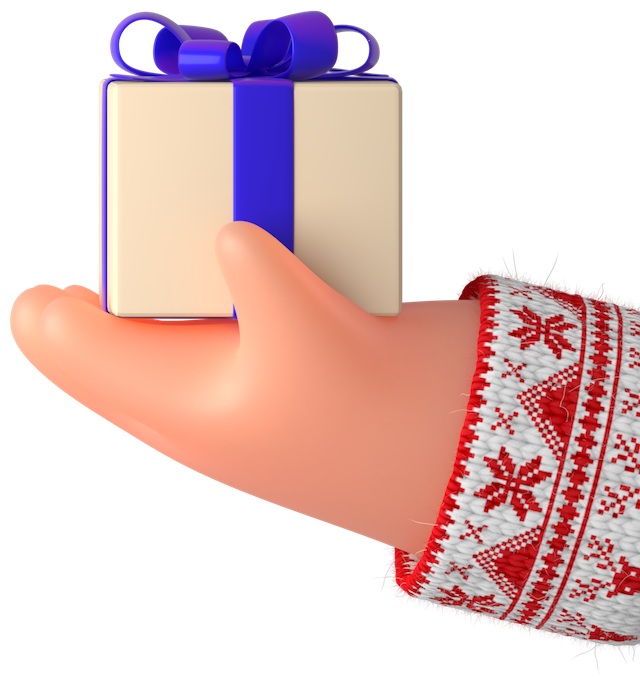 3d hand gift