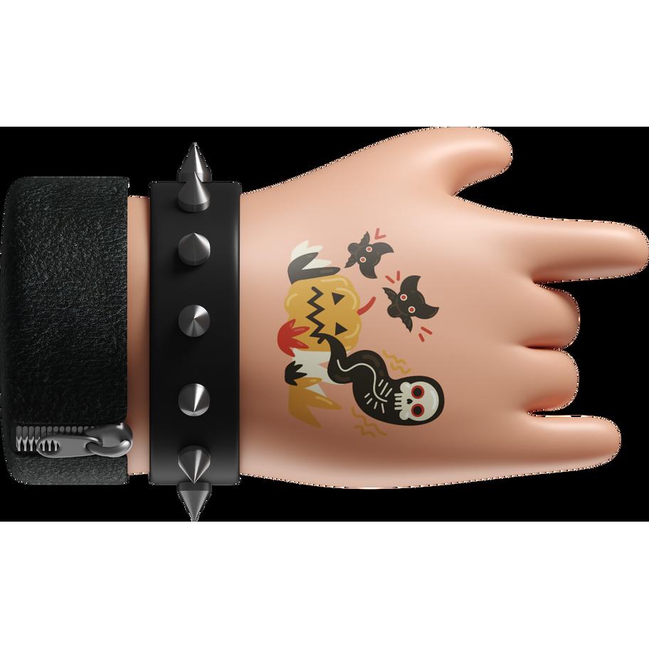 3d cute rockstar hand