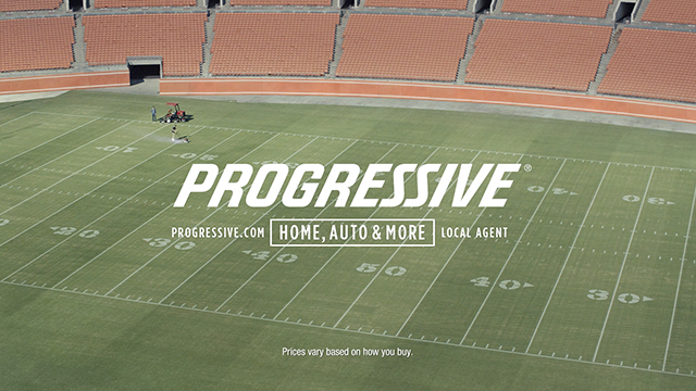Progressive: Baker Mayfield Mows His Lawn
