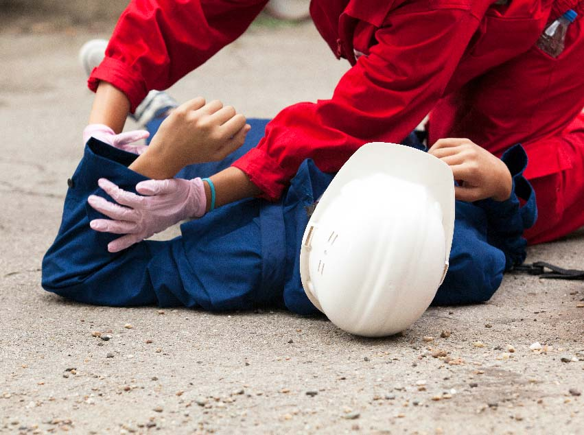 Construction worker fallen and injured