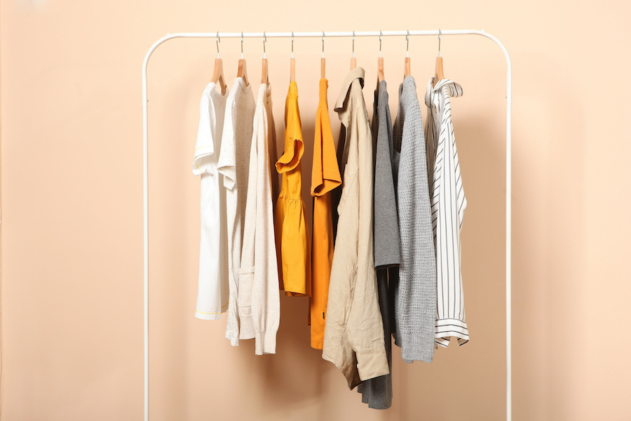 A rack of clothes: fashion brands can decide which items to test with consumers