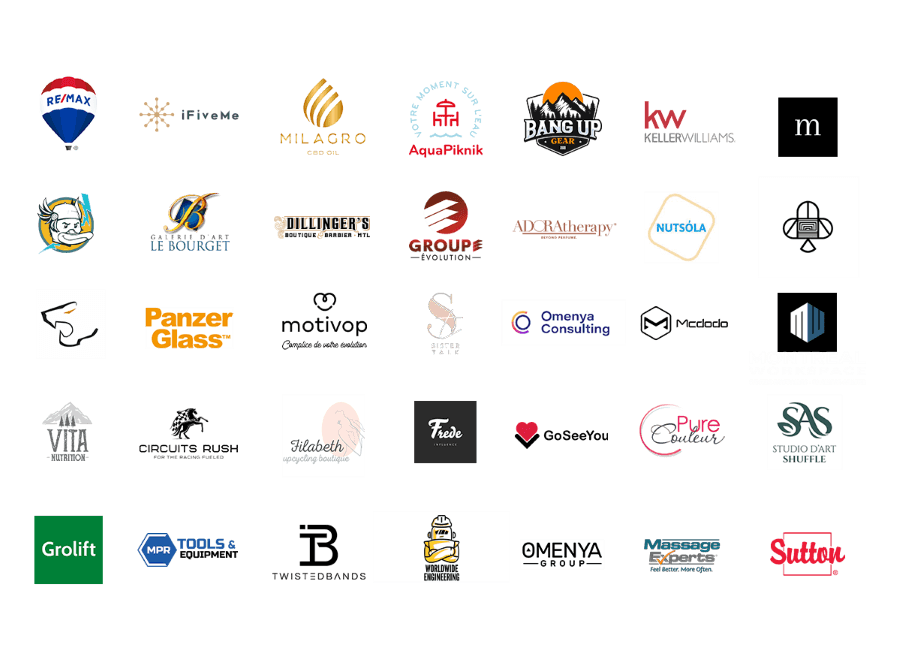 An image with various logos from companies multiple industries that worked with Letmetalk