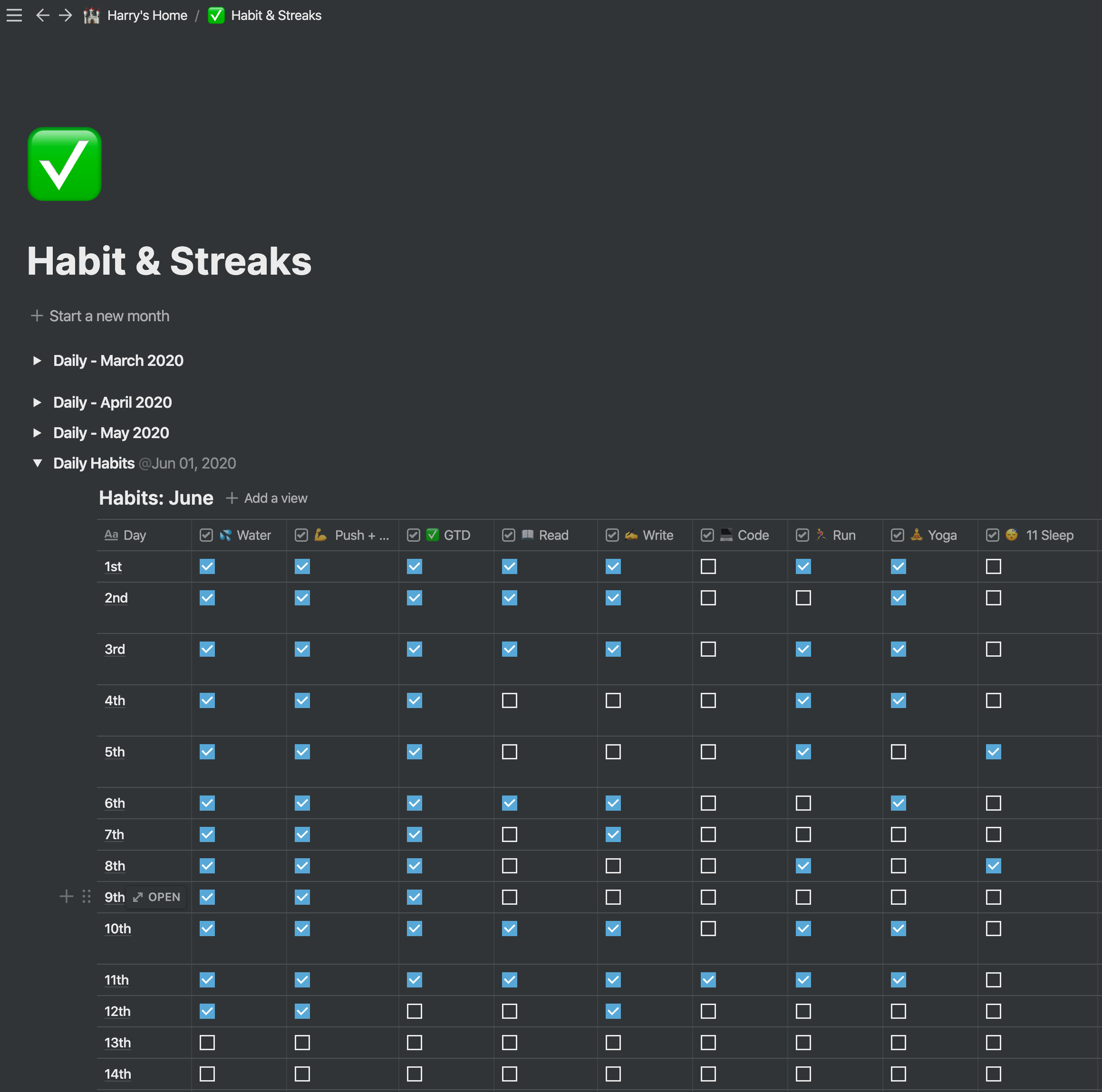 notion habit tracker