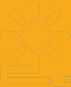 Sun electricity icon