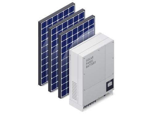 Solar panel battery.