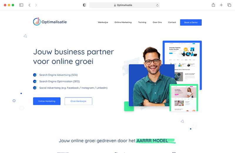 Optimalisatie Responsive Website Mockup