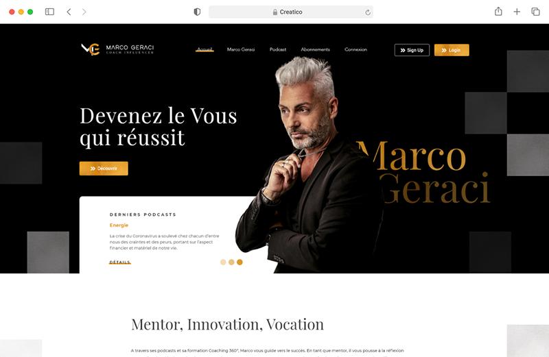 Marco Geraci Responsive Website Mockup