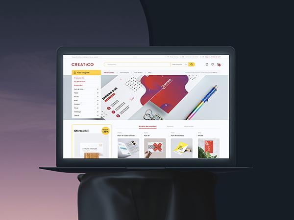 Creatico Wireframing Responsive Website Mockup