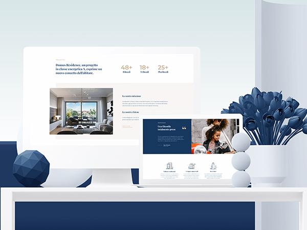 Domus Residence Responsive Website Mockup