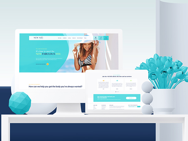 New You Cosmetic Centers Responsive Website Mockup