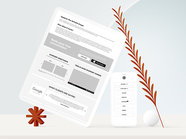 New You Cosmetic Centers Website Wireframing and Prototyping