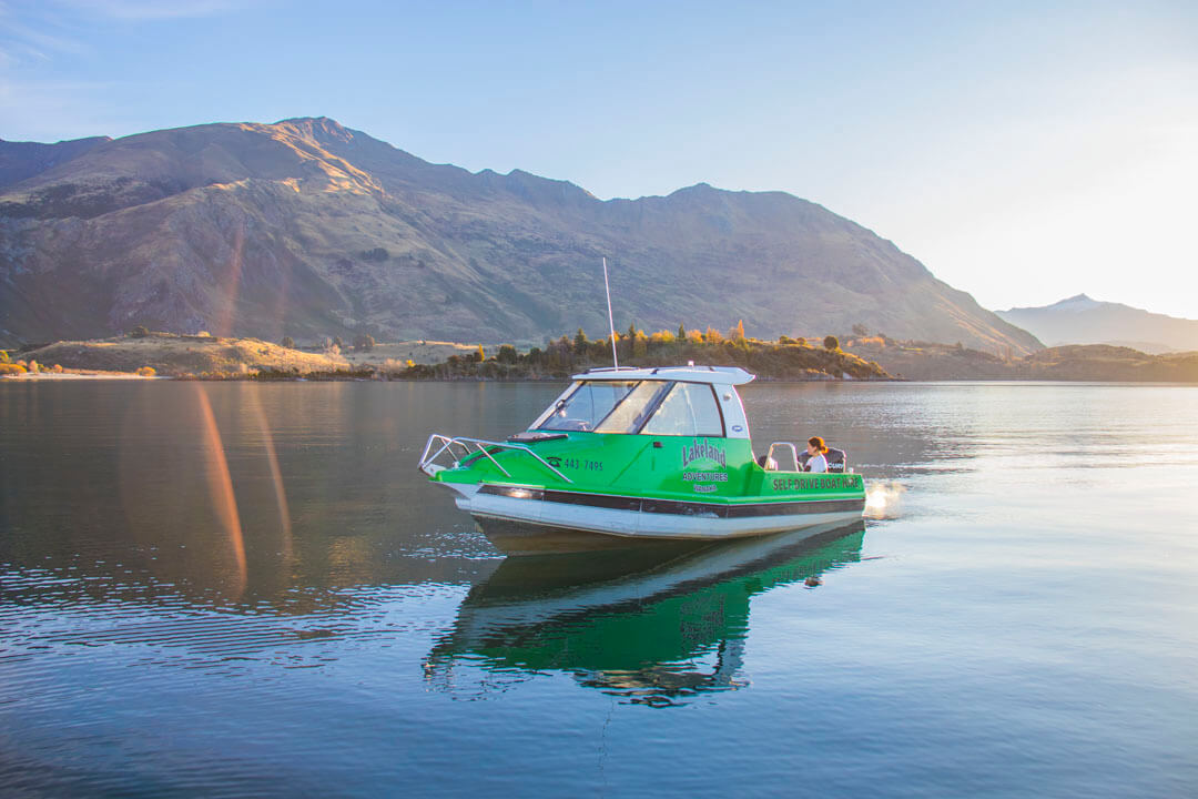Self Drive Boat on Lake Wanaka
