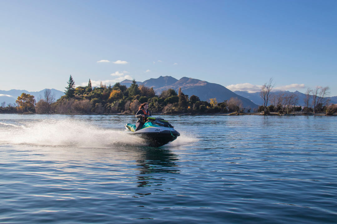 Jet Ski Tour beside Ruby Island, Lake Wanaka