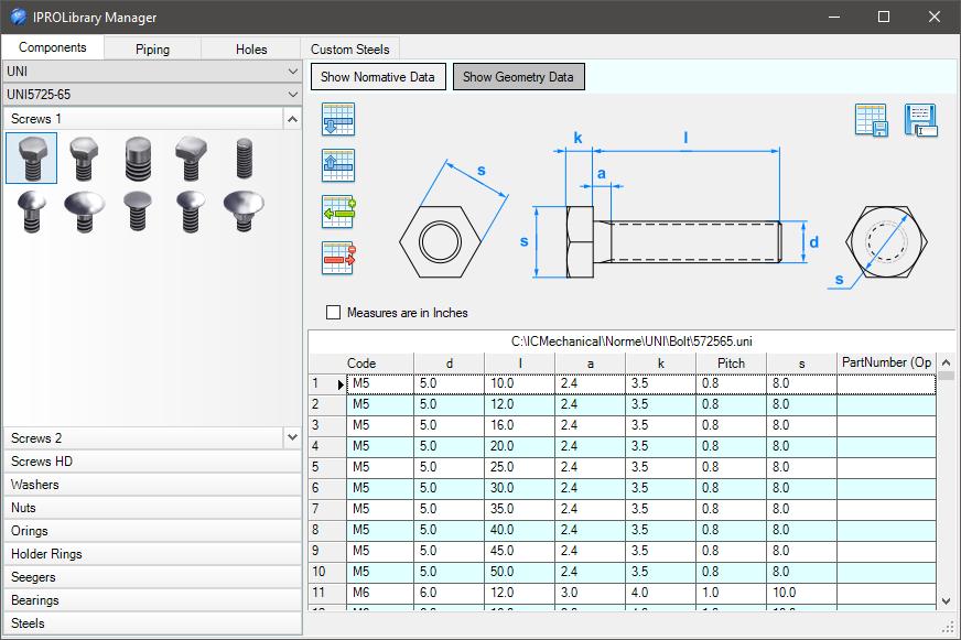 Lib Data Manager Geometry