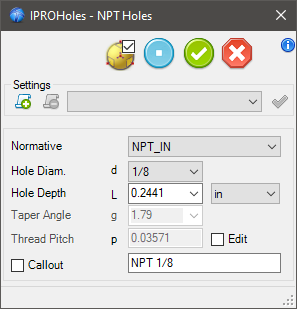 NPT Holes