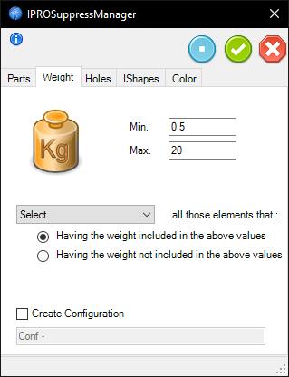 Suppress Small - Weight
