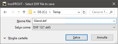 Save as Face to DXF