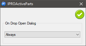 IPROActiveParts Dialog expanded