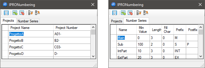 Numbering Projects - Number Series
