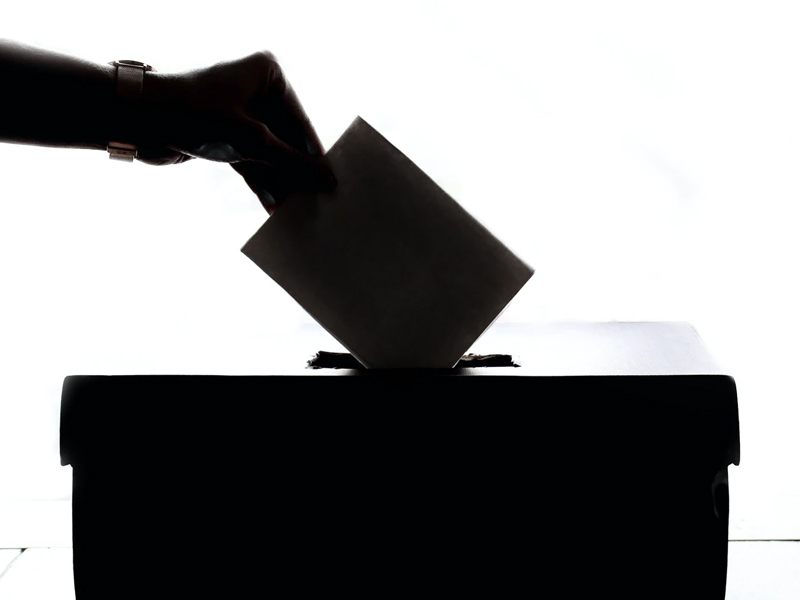 Someone placing their vote.