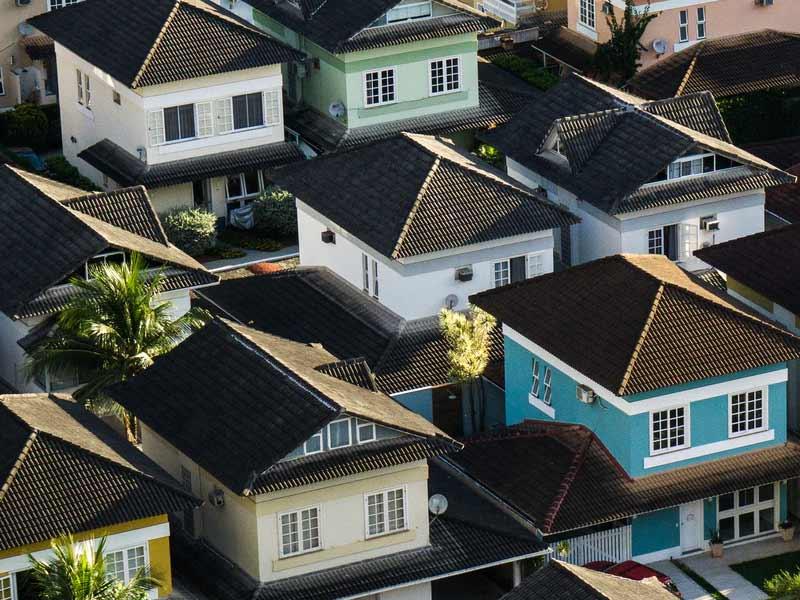 Urban houses.