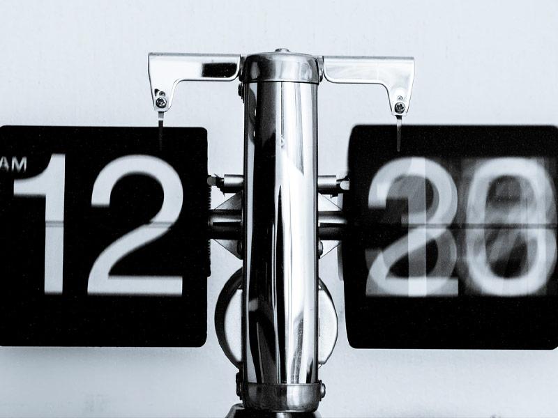 Digital clock.