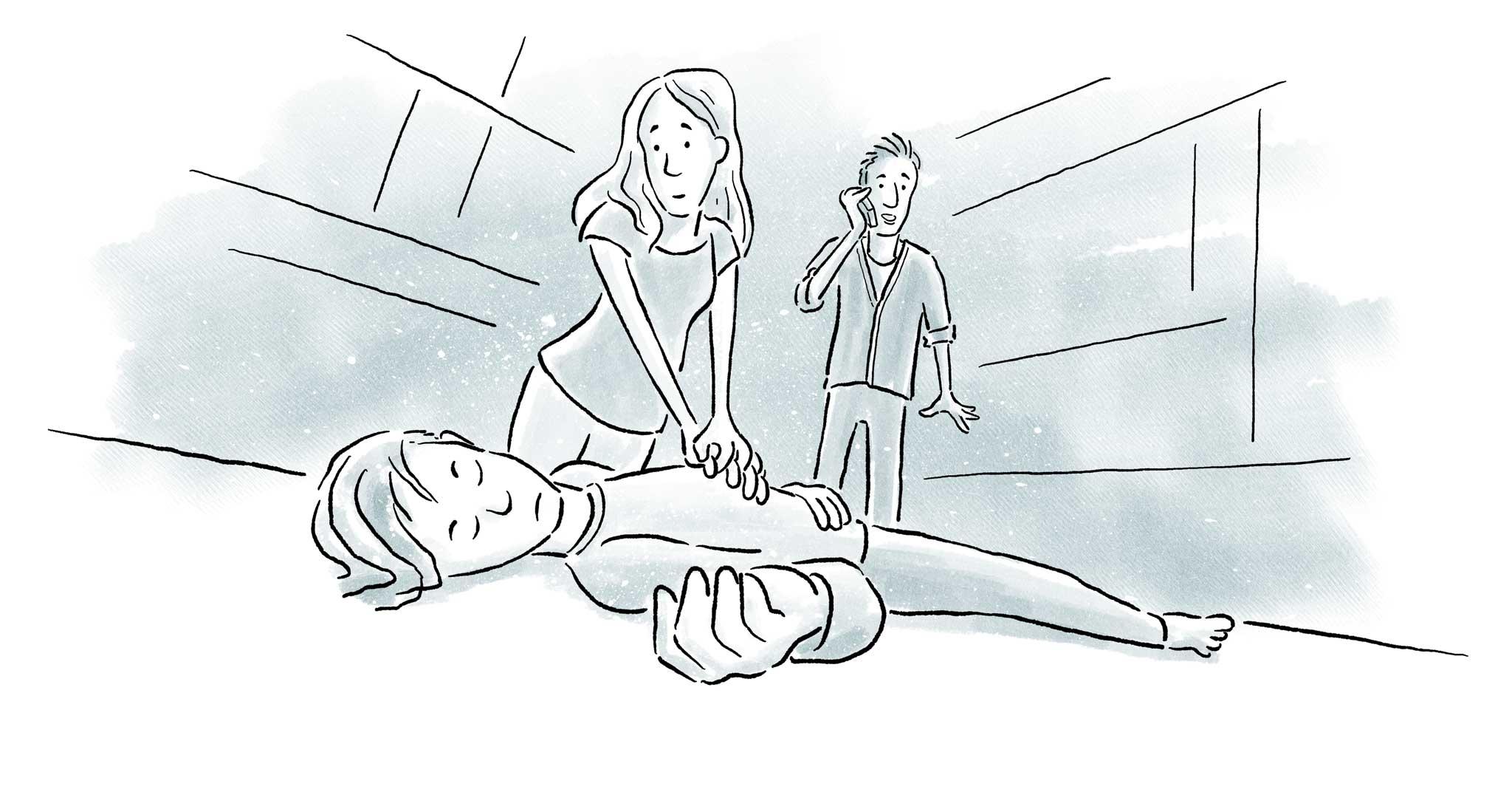 Erste Hilfe kann in vielen Fällen SUDEP verhindern.