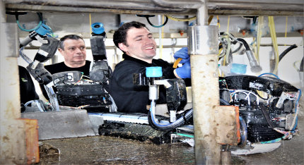 The miRobot robot is cleaned after a successful experiment