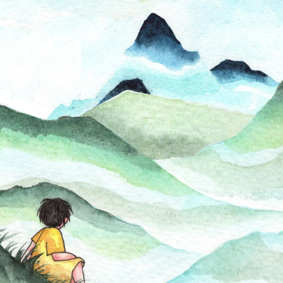 टीने और दूर बसे पर्वत